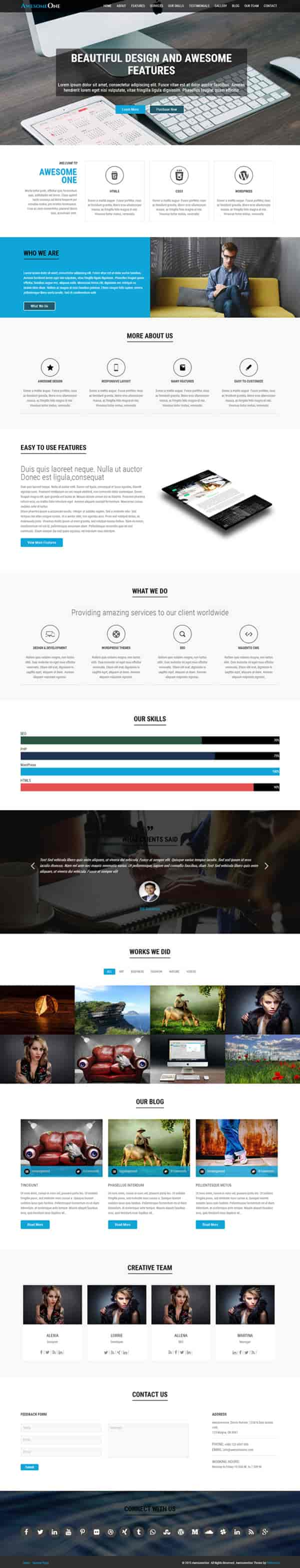 awesomeone-wordpress-theme