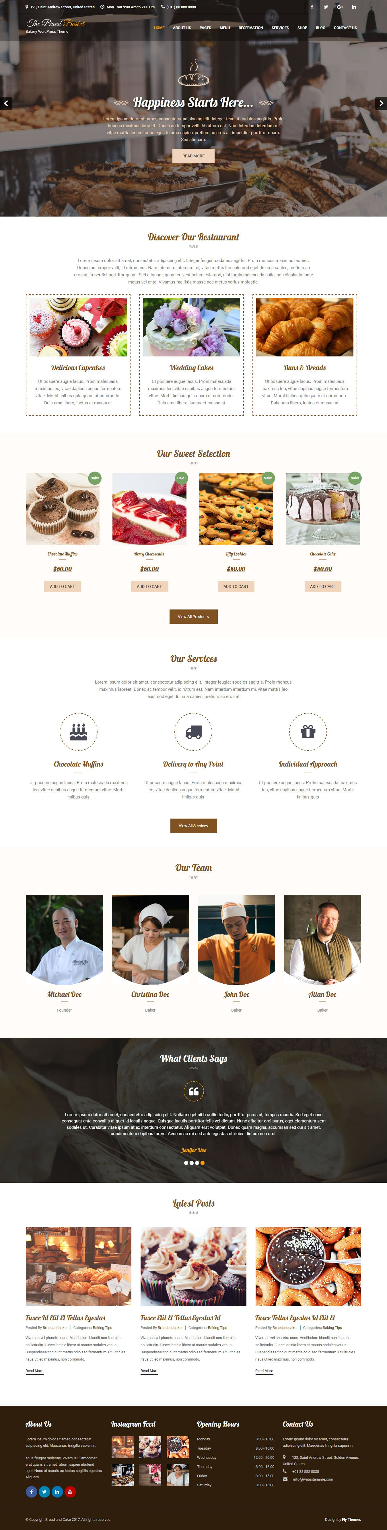 Bread and Cake WordPress Theme