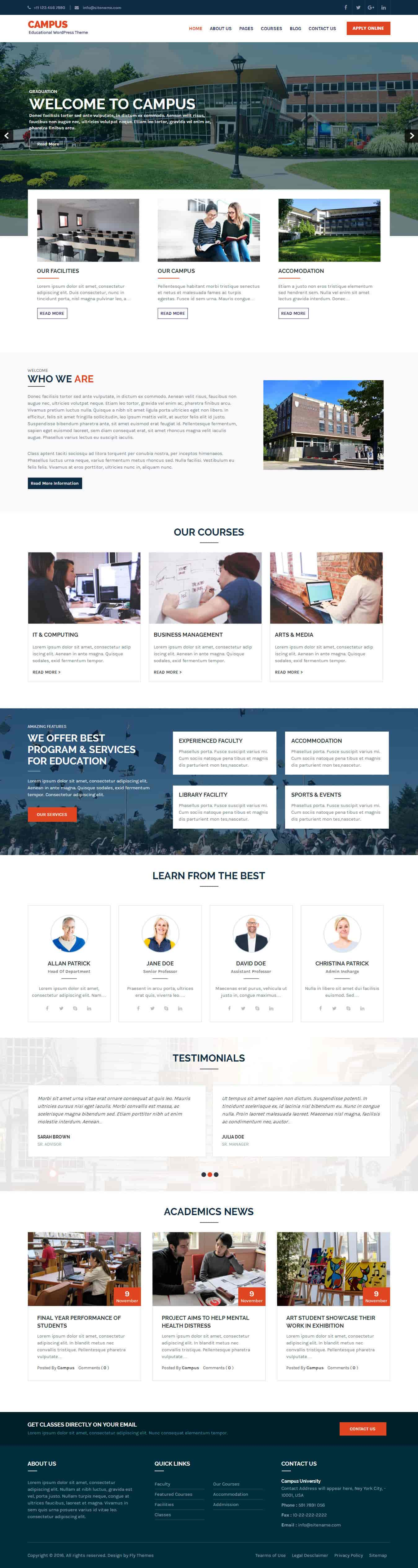campus-education-wordpress-theme