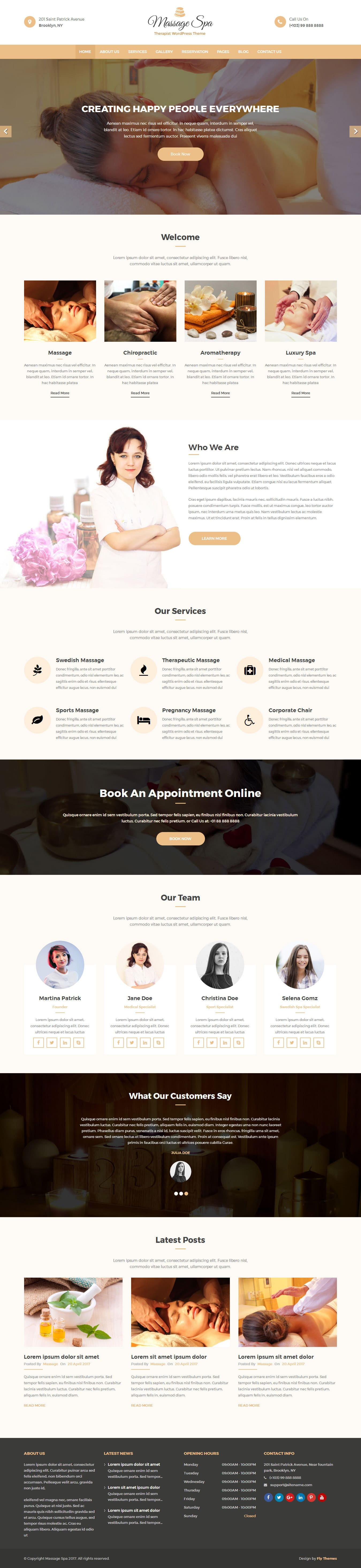 Free Massage WordPress Theme