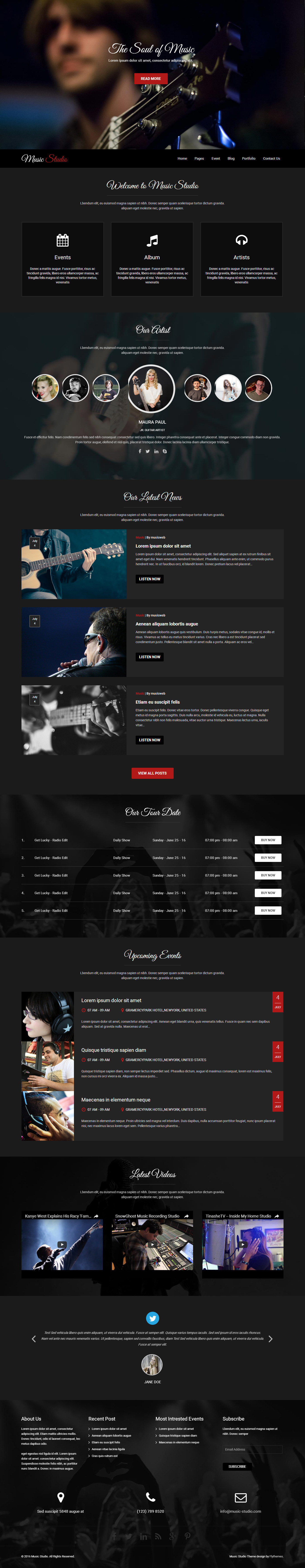music-studio-wordpress-theme