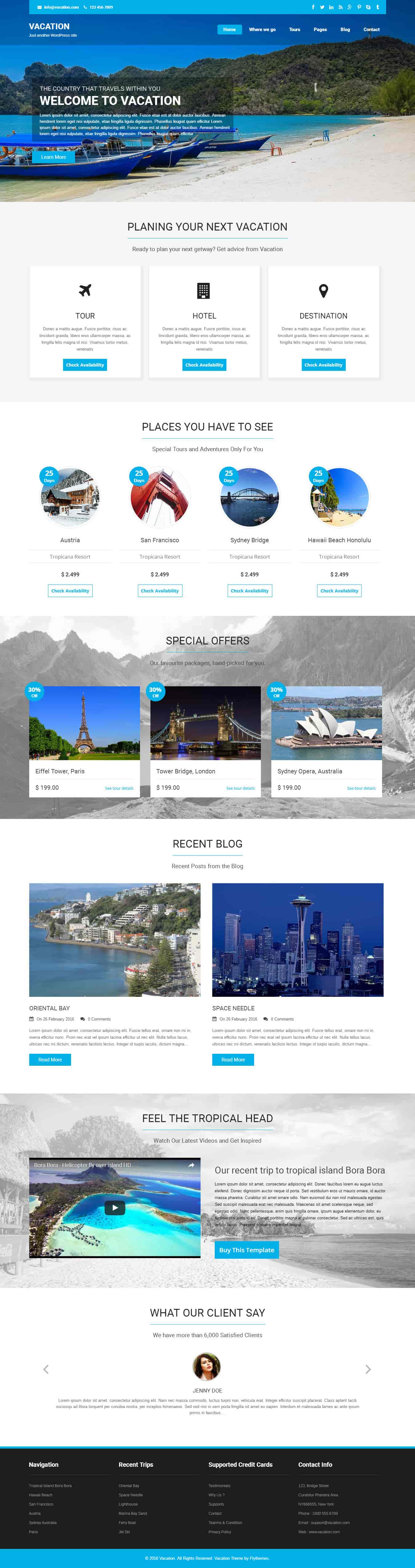 Vacation wordpress theme is speacilly built for tour and for What wordpress template is this
